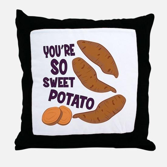 So Sweet Potato Throw Pillow