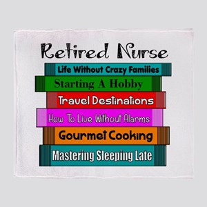 Retired Nurse Books Throw Blanket