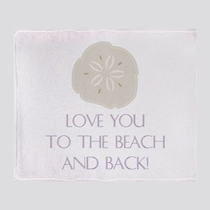 To The Beach Throw Blanket