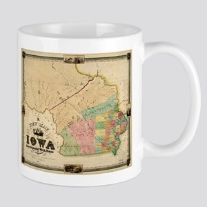 Vintage Map of Iowa (1845) Mugs
