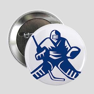 "Ice Hockey Goalie Retro 2.25"" Button (10 pack)"