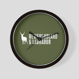 Deer: Newfoundland & Labrador, Canada Wall Clock