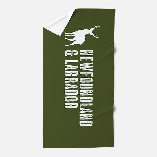 Deer: Newfoundland & Labrador, Canada Beach Towel