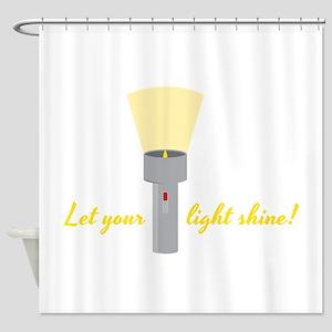 Flashlight Shower Curtains Cafepress