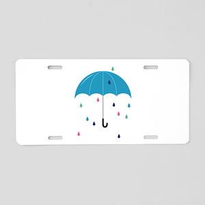 Colorful Rain Aluminum License Plate