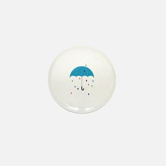 Colorful Rain Mini Button