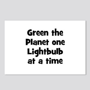 Green the Planet one Lightbul Postcards (Package o