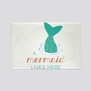 Mermaid Lives Here Magnets