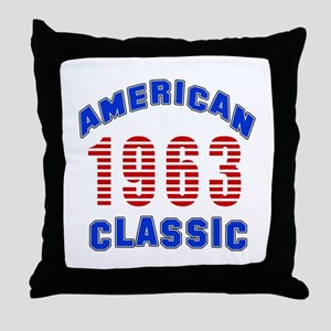 American Classic 1963 Throw Pillow