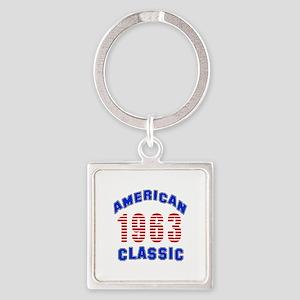 American Classic 1963 Square Keychain