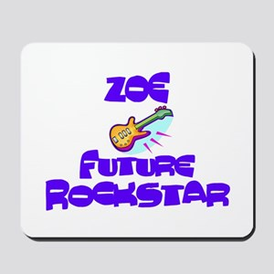 Zoe - Future Rock Star Mousepad