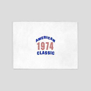 American Classic 1974 5'x7'Area Rug