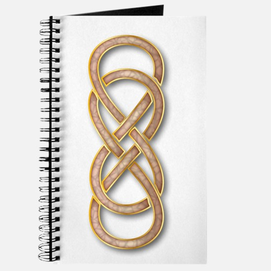 Double Infinity Cloisonne Rose Pink Gold Journal