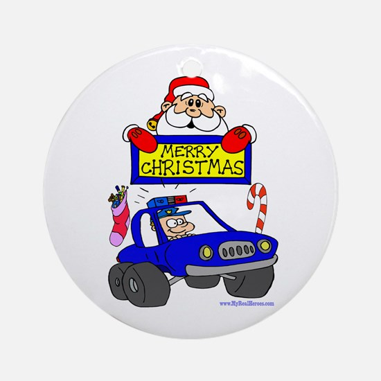 Christmas Shirt for COPs Ornament (Round)