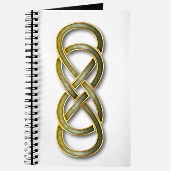 Double Infinity Cloisonne Jade Gold 1 Journal