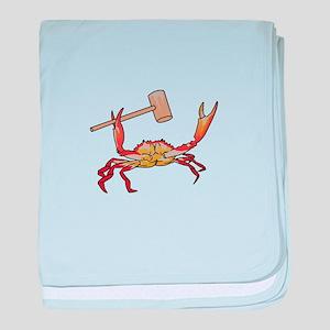 Crab Wtih Mallet baby blanket