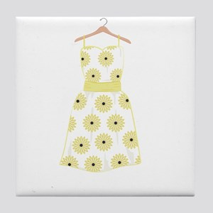 Floral Dress Tile Coaster