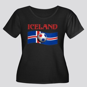 TEAM ICELAND WORLD CUP Women's Plus Size Scoop Nec