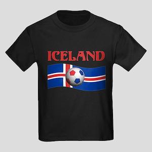 TEAM ICELAND WORLD CUP Kids Dark T-Shirt