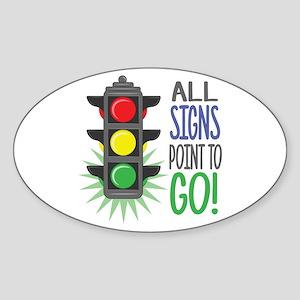 Point To Go Sticker