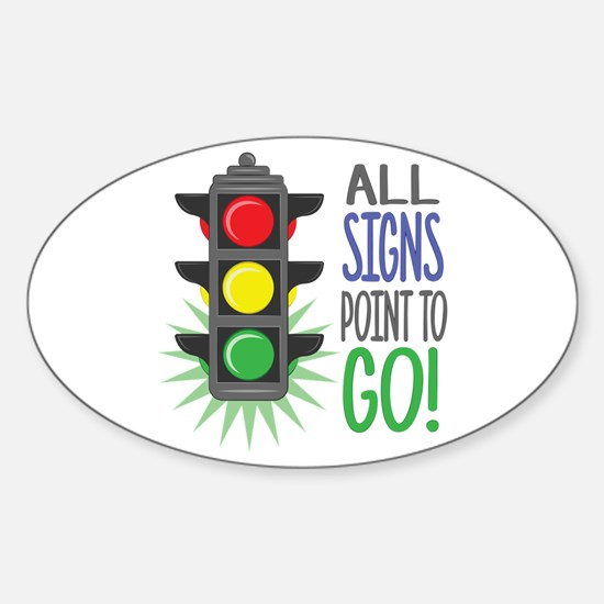Point To Go Decal