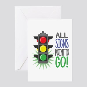 Point To Go Greeting Cards