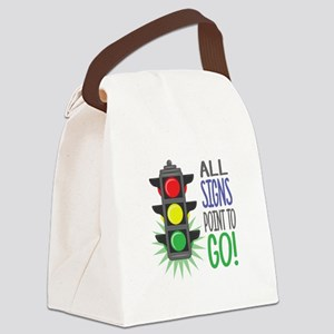 Point To Go Canvas Lunch Bag