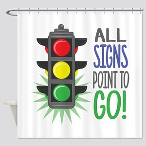 Point To Go Shower Curtain