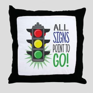 Point To Go Throw Pillow