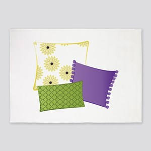 Pillows 5'x7'Area Rug