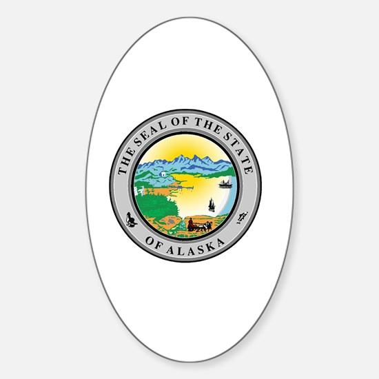 Cute Alaska state seal Sticker (Oval)
