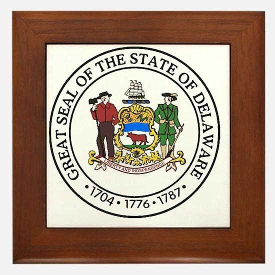Funny Delaware Framed Tile