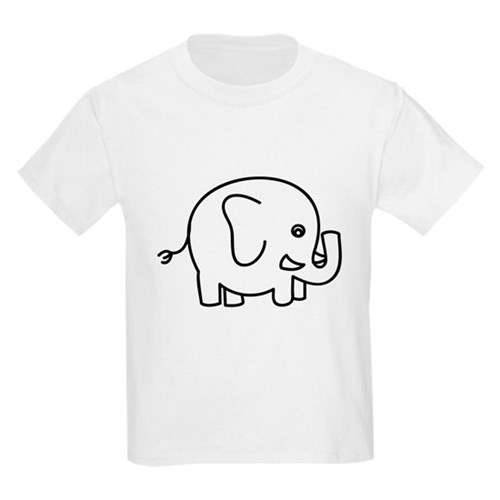 Round Elephant for Light Clothes T-Shirt