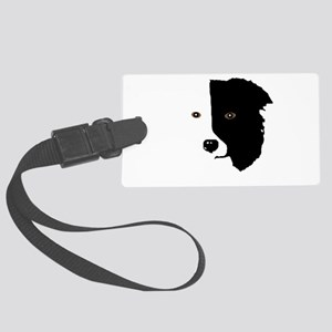 Border Collie Head 1 Large Luggage Tag