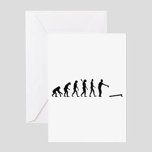 Evolution Cornhole Greeting Card
