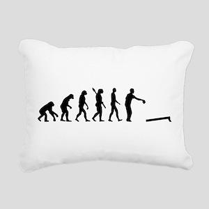 Evolution Cornhole Rectangular Canvas Pillow