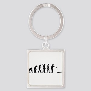 Evolution Cornhole Square Keychain