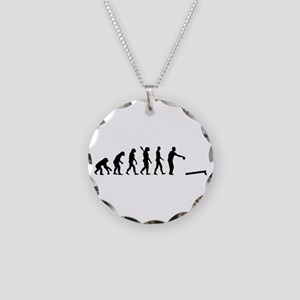 Evolution Cornhole Necklace Circle Charm