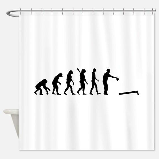 Evolution Cornhole Shower Curtain