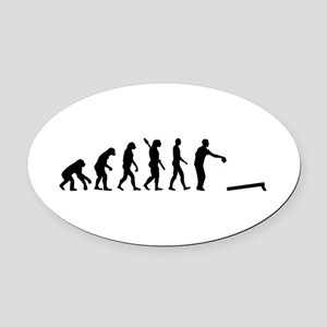 Evolution Cornhole Oval Car Magnet