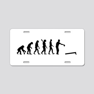 Evolution Cornhole Aluminum License Plate