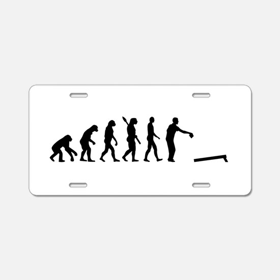 Evolution Cornhole Aluminum License Plate