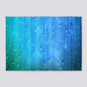 Wet Blue 5'x7'Area Rug