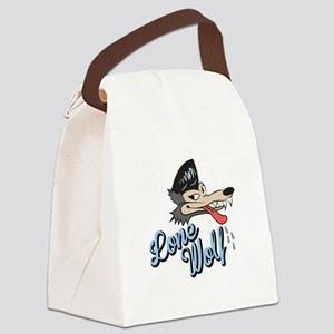 Lone Wolf Canvas Lunch Bag