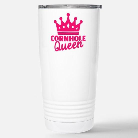 Cornhole queen Stainless Steel Travel Mug