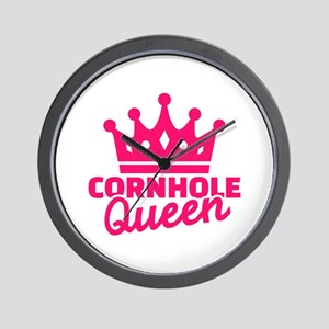 Cornhole queen Wall Clock