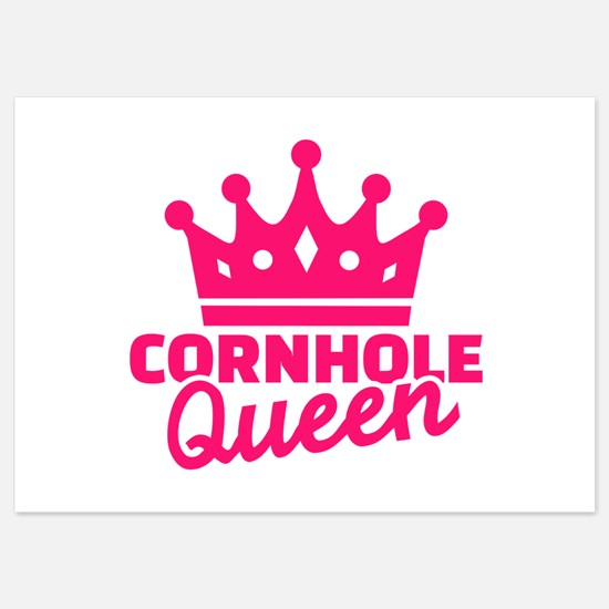 Cornhole queen 5x7 Flat Cards