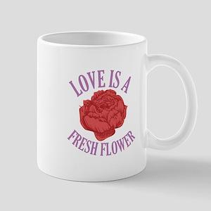 Love Is a Fresh Flower Mugs