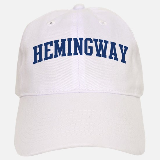 HEMINGWAY design (blue) Baseball Baseball Cap