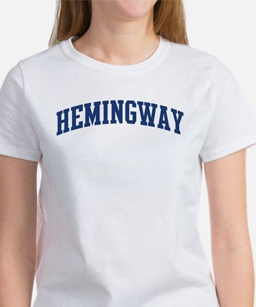 HEMINGWAY design (blue) Women's T-Shirt